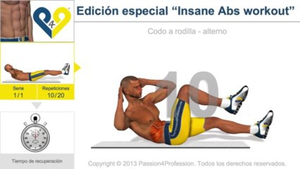 "Edición especial ""Insane Abs workout"""
