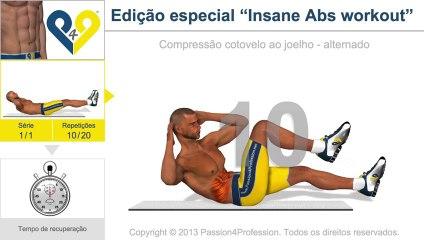 """Edição especial """"Insane Abs workout"""""""