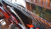 Epissure raccourcissement du câble de l'Aiguille du Midi Chamonix Mont-blanc