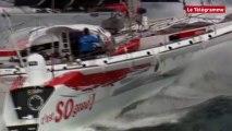 Voile. Tour du monde en solitaire : Thomas Coville depuis son bateau