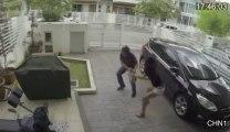 Un vol de sac a main qui tourne mal - Le voleur se fait défoncer par la fille!