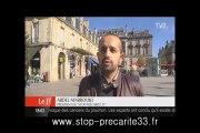 Stop Précarité 33 sur TV7 Bordeaux 17 10 2013