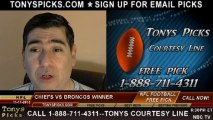 Kansas City Chiefs vs. Denver Broncos Pick Prediction NFL Odds Preview 11-17-2013