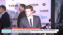 Liam Hemsworth Finally Addresses Miley Cyrus Breakup & Eiza González Hookup