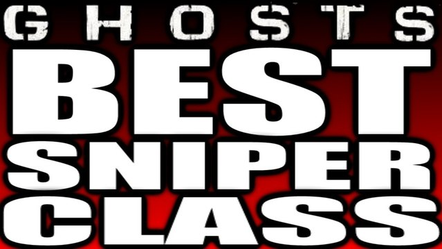 Call of Duty Ghosts : BEST Sniper Class! By Strypher V (COD GHOSTS BEST SNIPER CLASS)