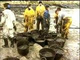 Catástrofe del Prestige: Miles de voluntarios ayudan a la recogida de fuel en las costas gallegas