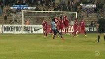 Football : le joli coup franc d'Edinson Cavani