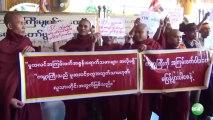 Protest Against OIC Trip  _ مظاهرات حاشدة في بورما ضد منظمة التعاون الإسلامي