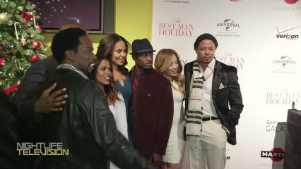 WATCH THIS: Terrence Howard, R Kelly, & Michael Strahan laugh it up at The Best Man Holiday premiere