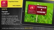 A vendre - terrain - PENNE D AGENAIS (47140) - 1 150m²