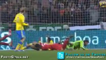le but de Cristiano Ronaldo lors de Portugal – Suède
