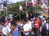 مظاهرات الرهبان مع البوذيين ضد زيارة وفد منظمة التعاون الإسلامي لميانمار