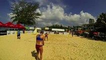 USA vs USA film 3 Day-Ross vs Carico Hugues 2:1 22-24 1er set beach-volley Thailande FIVB World Tour