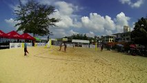 USA vs USA film 4 Day-Ross vs Carico Hugues 2:1 22-24 1er set beach-volley Thailande FIVB World Tour