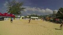 USA vs USA film 6 Day-Ross vs Carico Hugues 2/1 22-24 14-21 15-3 debut du 2ème setbeach-volley Thailande FIVB World Tour