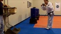 Board breaking - 12 Board Break Stepping Side Kick - ITF Taekwondo Sidekick Power Breaking