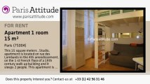 Studio Apartment for rent - Centre George Pompidou, Paris - Ref. 5227