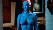 Jennifer Lawrence Looks Hot Blue in X-Men First Class