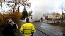 Container met kermisattractie uitgebrand in Groningen - RTV Noord