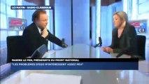Marine Le Pen, invitée politique de Guillaume Durand avec LCI
