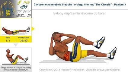 """Ćwiczenie na mięśnie brzucha w ciągu 8 minut """"The Classic"""" - Poziom 3"""