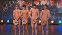 Knäckebrödsdansen : 4 hommes dansent nus à Incroyable Talent de Suède
