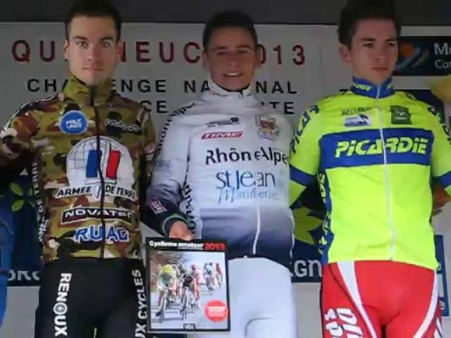Challenge National de Cyclo-Cross 2013 - Quelneuc : Le podium Espoirs