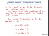 Adéquation de données expérimentales à une loi équirépartie - Exo 1