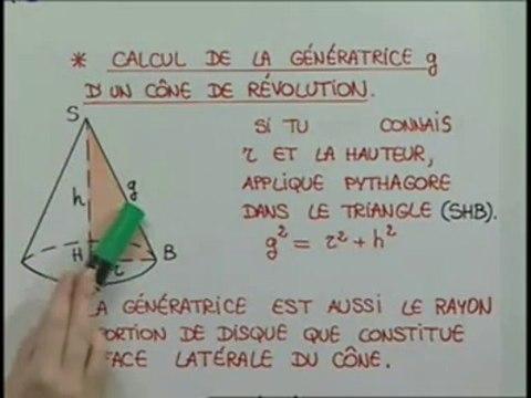 Le calcul de la hauteur d'une pyramide ou d'un cône