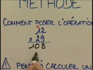 La multiplication et le calcul de tête
