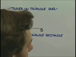 Comment tracer ces triangles ?