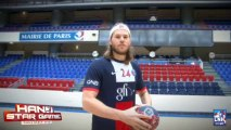 Hand Star Game - PSG Handball - Luc ABALO et Mikkel HANSEN - défi barre transversale