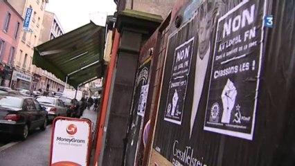Municipales 2014 : le local du candidat FN à Clermont-Ferrand vandalisé