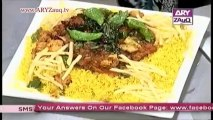 Zauq Zindagi with Sara Riaz and Dr. Khurram Musheer, Death by Chocolate Cake, Spicy Braided Bread & Roasted Vegetable Platter, 20-11-13