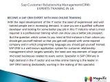 SAP CRM ONLINE TRAINING/CRM TUTORIALS SUPPORTING@Magnifictraining.com