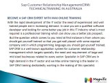 SAP CRM MODULES/CRM TRAINING ONLINE REAL CONCEPTS@Magnifictraining.com