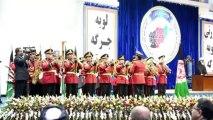 Le président afghan devant les délégués de la Loya Jirga