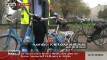 Plan vélo: voté à coup de pédales!