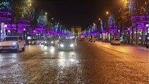 Coup d'envoi des illuminations de Noël sur les Champs-Elysées