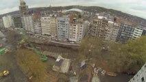 Aménagement de la rive gauche de Liège vu du ciel