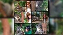 Khloe Kardashian câline des koalas dans un zoo en Australie