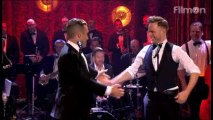 Olly Murs and Robbie Williams performance of Wanna be like you.