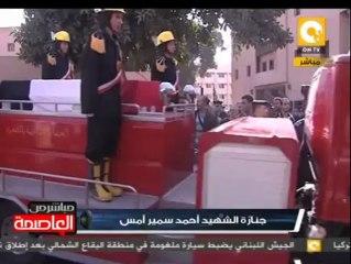 تشييع جنازة الشهيد النقيب أحمد سمير بالأمس من مسجد الشرطة بالدراسة