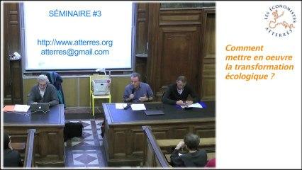 Conférence-débat sur la transformation écologique 1/4 - Séminaire #3