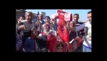 الإسكندرية العشرات يتظاهرون أمام القائد إبراهيم للإحتفال بعيد ميلاد السيسي 19-11-2013