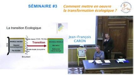 Conférence-débat sur la transformation écologique 2/4 - Séminaire #3