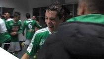 La joie des Verts après Nice 0-1 ASSE