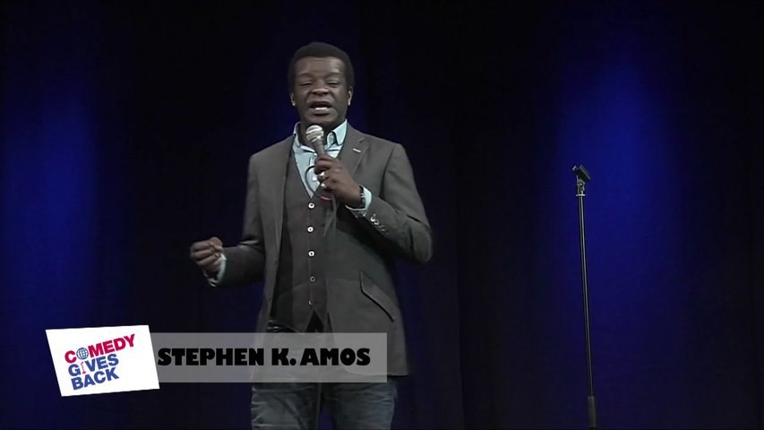 Jokes from London: Stephen K Amos and his twin sister