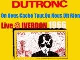 Jacques Dutronc On Nous Cache Tout, On Nous Dit Rien Live @ Iverdon 1966