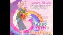 Happy 25th Birthday Greetings Card E Egreetings Wishes
